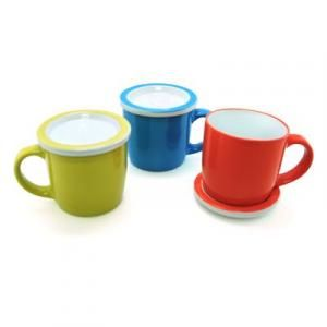 Ceramic Mug with Lid/Coaster Household Products Drinkwares Best Deals CLEARANCE SALE UMG1103