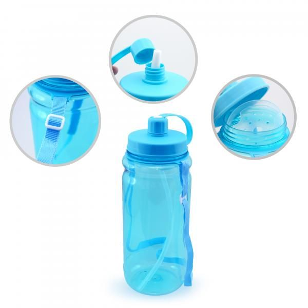 Bytrex Water Bottle With Straw Household Products Drinkwares Best Deals Back To School UBO1218BLUHD