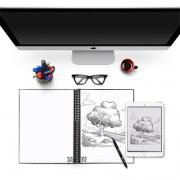 Rocketbook Everlast - Lettersize Office Supplies Other Office Supplies Crowdfunded Gifts Earth Day ZNO1033-BLK_4