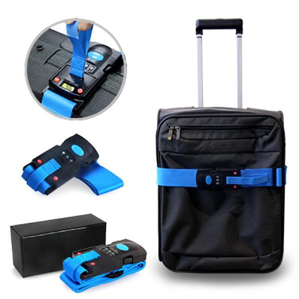 Luggage Strap With Weighing Scale Travel & Outdoor Accessories Luggage Related Products YLU1042BLU