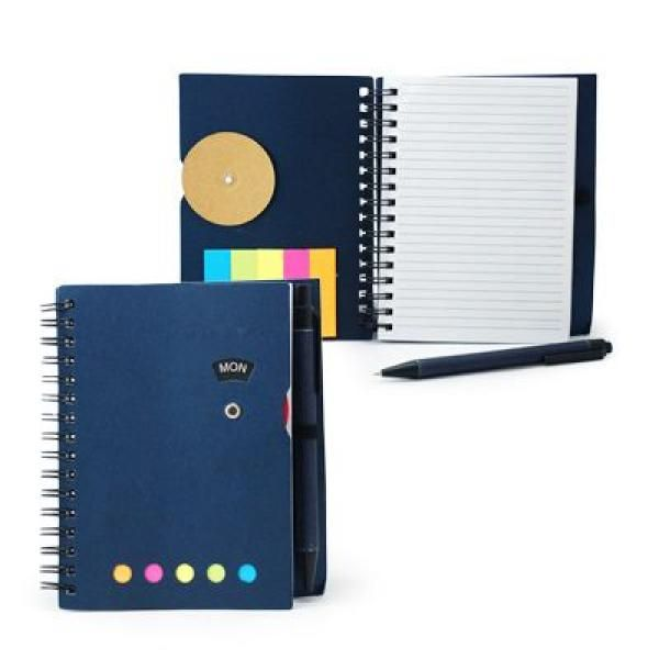 Notebook with Sticky Notes and Pen Printing & Packaging Notebooks / Notepads ZNO1016Blu