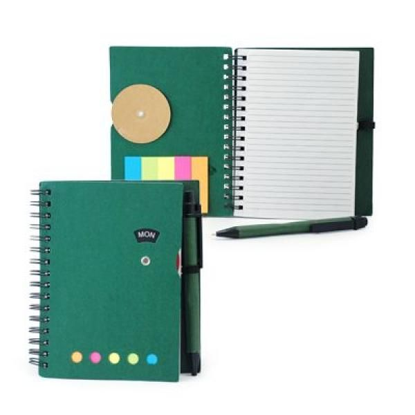Notebook with Sticky Notes and Pen Printing & Packaging Notebooks / Notepads ZNO1016Grn