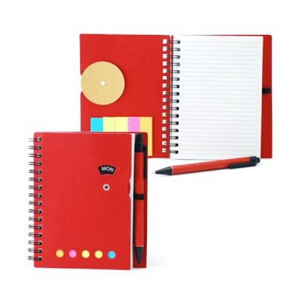 Notebook with Sticky Notes and Pen Printing & Packaging Notebooks / Notepads ZNO1016Red