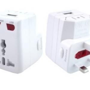 Travel Adaptor With USB Hub Electronics & Technology Gadget Best Deals EGT1005