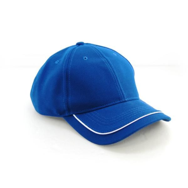 Cool Max Cap with Piping on Peak Headgears CAP1108Blu