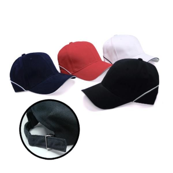 Brushed Cotton Cap w Piping Sandwich Silver Buckle-AP Headgears cap1104