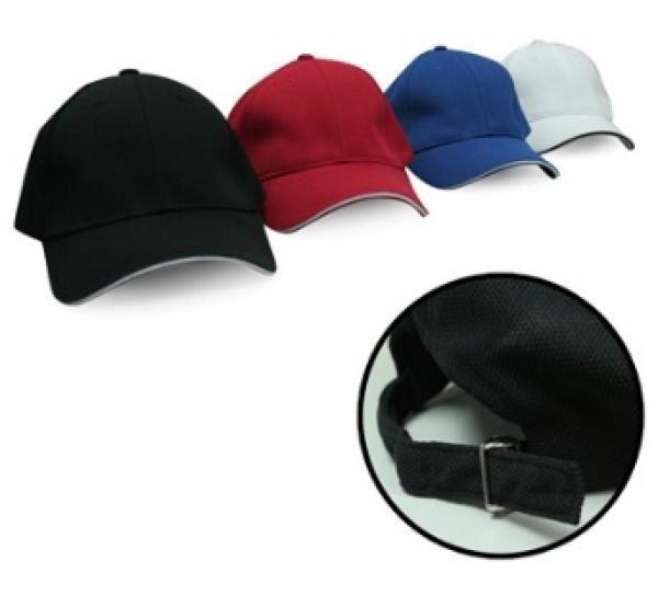 Cool Max Plain Cap w Sandwich & Silver Buckle - AP Headgears cap1103
