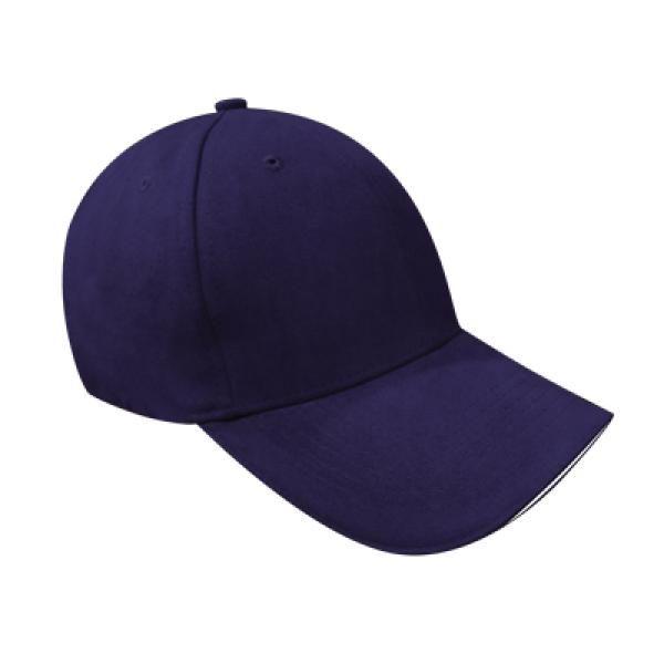 Cotton Till Cap  Sandich&Silver Buckle-AP Headgears CAP1105BLU