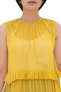 Layered tunic with frill detail
