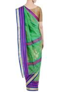 Banarasi silk woven saree with unstitched blouse