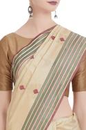 Banarasi silk saree with unstitched blouse