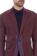 Purple & brown single button blazer