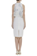 Floral Bead Embroidered Layered yoke Dress