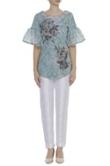 3D Floral Motifs Embroidered Blouse
