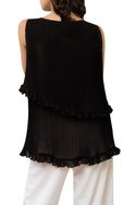 Bateau Neck Top  With Frill Detail