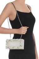 Pearl,Sequins & Stone Embroidered Clutch Cum Sling