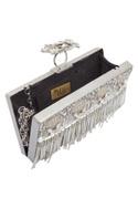 Crystal Embellished Metal Clutch