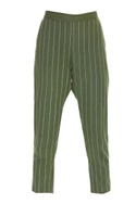 Vertical Embroidered Striped Pants