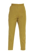 Embroidered Vertical Striped Pants