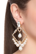 Stone embedded june drop earrings