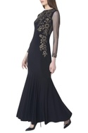 Garland flare hand embroidered gown