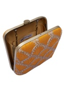 Aari embroidered square clutch