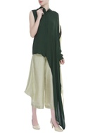 Structured satin linen culottes