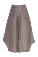 Satin Linen flared culottes
