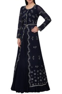 Sequin embroidered anarkali kurta lehenga set