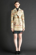 Printed corduroy jacket