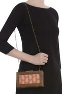 Paisley Wooden Frame Clutch Cum Sling bag