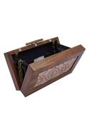 Moroccan Printed Box Clutch Cum Sling bag