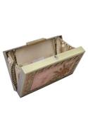 Handcrafted Zardozi Box Clutch Cum Sling bag