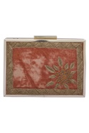 Zardozi Embroidered Box Clutch Cum Sling bag