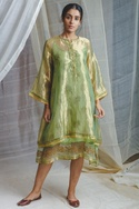 Hand Embroidered Layered Dress
