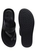Open textured strap sandals