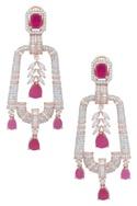 Stone studded earrings