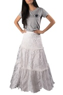 Lace work tiered skirt