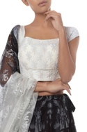 Embroidered Blouse With lehenga & Dupatta