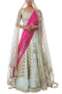 Leaf embroidered lehenga set