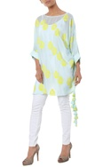 Polka dot tunic with drawstring