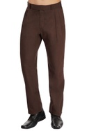 Brown pleated trouser