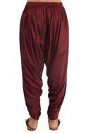 Maroon dhoti pants