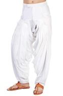 White pleated patiala pants