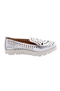 Silver flats with cutwork details