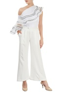 White trousers with silver stripes