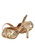 Rose gold stilettos in beadwork & embroidery