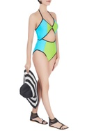 Lime halter neck swimsuit