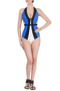 Blue cutout swimsuit