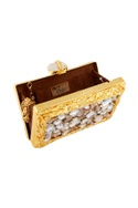 Gold crushed metal clutch